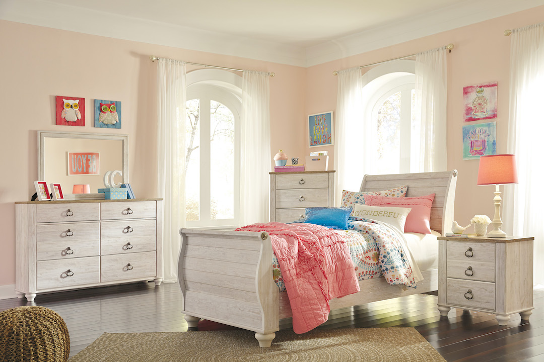 Willowton Twin Sleigh Bed Set