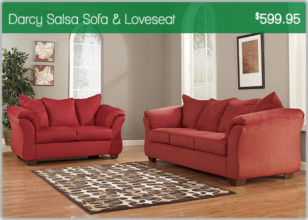 Darcy Salsa Sofa & Loveseat