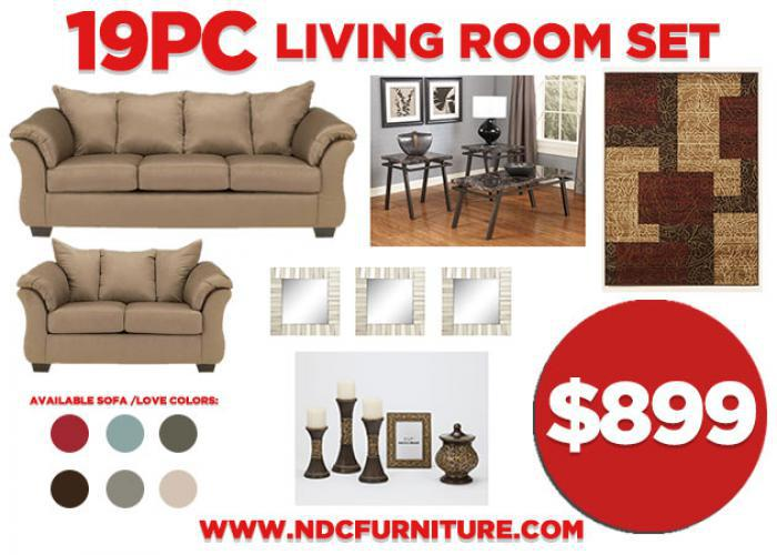 19 PC Room Package - 7 Colors Available ,NDC Stores Specials