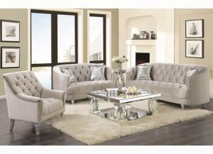 Silver Sofa, Loveseat, & Chair Set