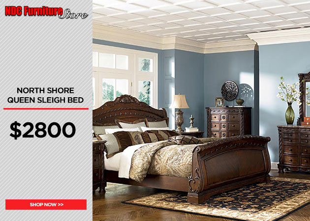North Shore Queen Sleigh Bed
