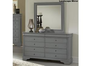 French Market Zinc Dresser & Mirror