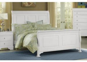 French Market Soft White Queen Sleigh Bed