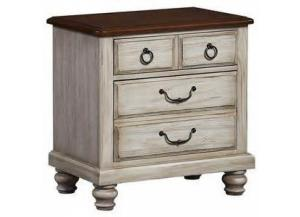 Arrendelle Rustic White Finish Night Stand