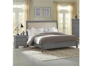 French Market Zinc Queen Upholstered Bed