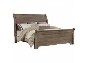 Whiskey Barrel Queen Sleigh Bed