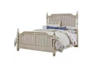Arrendelle Rustic White Finish Queen Poster Bed