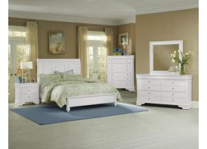 French Market Soft White Dresser & Mirror