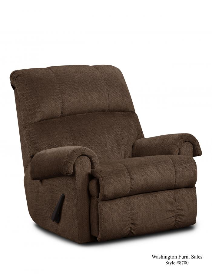KELLY CHOCOLATE RECLINER,Washington Sofa