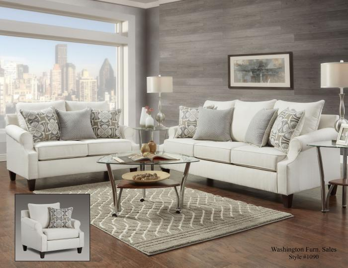 BAY RIDGE CREAM LOVESEAT,Washington Sofa