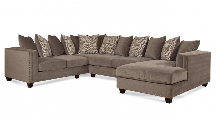 Milky Way Silver 3 PC Sectional,Blue Mountain