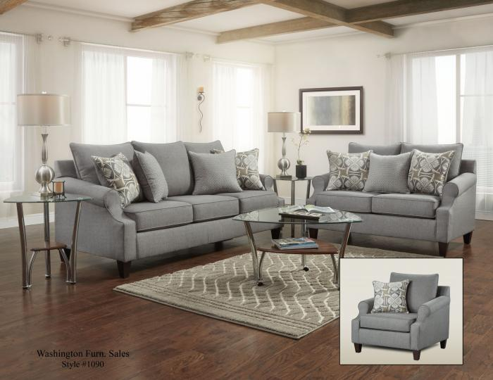 BAY RIDGE GRAY SOFA,Washington Sofa