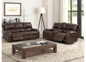 Image for Taos Reclining Sofa & Loveseat with Drop Down Console