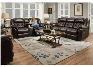 Image for Chaps Whiskey Leather Sofa, Loveseat & Recliner