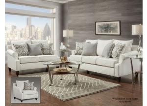 BAY RIDGE CREAM LOVESEAT