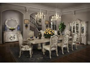 Monte Carlo II Silver Pearl Table & 6 Chairs