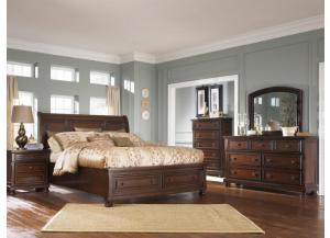 Porter  Queen bed, Dresser, Mirror, Chest & 2 Night stands