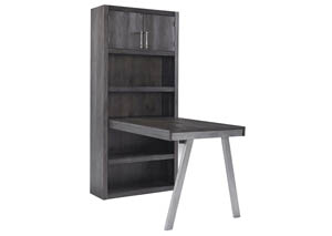 Image for Raventown Grayish Brown Large Bookcase w/Desk Return