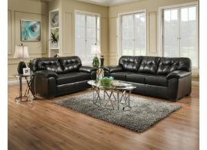 Showtime Onyx Sofa And Loveseat