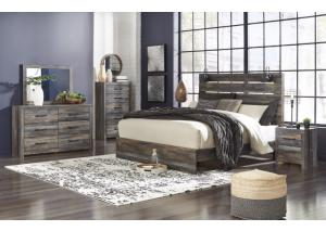 Image for Drystan King Panel Bed w/Dresser, Mirror and Nightstand