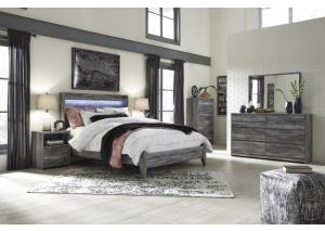 Image for Baystorm Queen Gray Panel Bed w/Dresser, Mirror and Nightstand