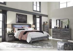 Image for Baystorm King Gray Panel Bed w/Dresser, Mirror and Nightstand