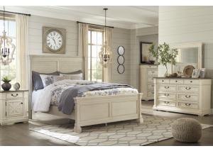 Image for Bolanburg White King Panel Bed w/Dresser, Mirror and Nightstand