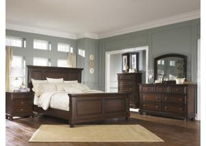 Image for Porter Queen Panel Bed w/Dresser, Mirror and Nightstand