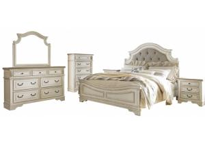 Image for Realyn Queen Upholstered Bed w/Dresser, Mirror and Nightstand