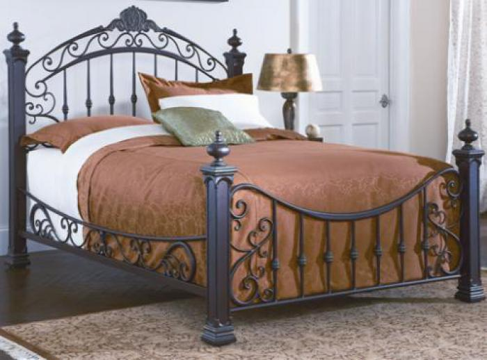 Diana Queen Metal Antique Bronze Bed,Orbit Exclusive