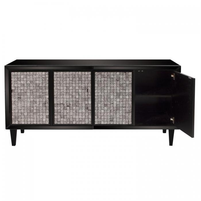 Glossy Black Cabinet w/ Tile Front,Orbit Exclusive