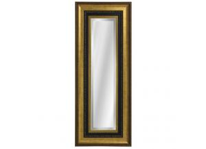 Gold over Black Frame Rectangular Wall Mirror