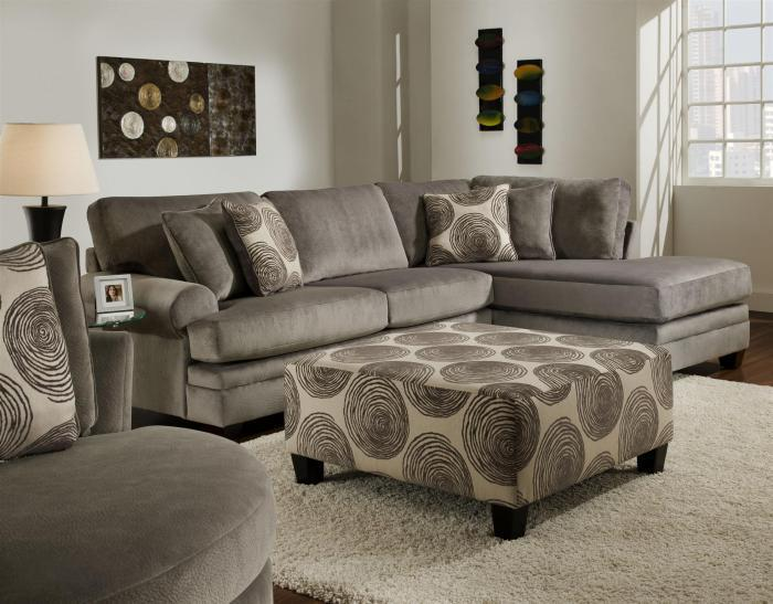 Groovy 2-Piece Chaise Sectional,Albany