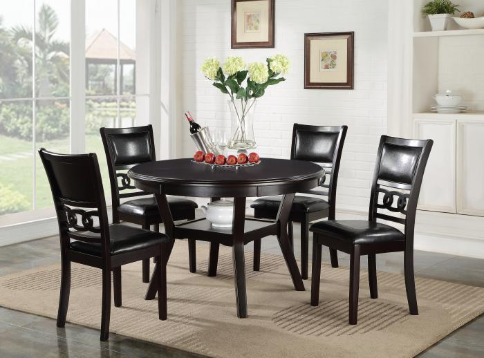 Gia Round Table and 4 Chairs,New Classic