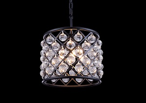 Madison Mocha Brown Pendent Lamp w/ Royal Cut Crystals