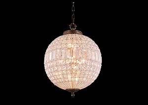 Olivia French Gold Pendant Lamp w/ Royal Cut Crystals