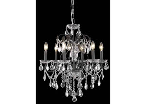 St. Francis Collection Chandelier Dark Bronze Finish 6Lt