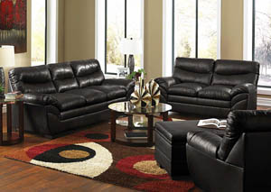 Soho Onyx Sofa and Loveseat
