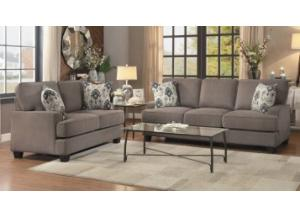 Kenner Gray 2 Piece Living Room Set