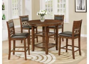 Cally Counter Height 5 Piece Dining Room Set