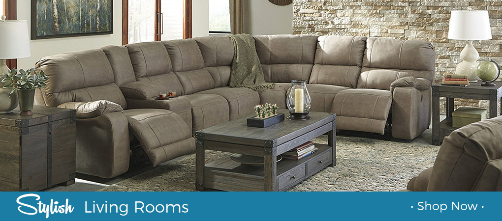 benchcraft reclining living room sectional