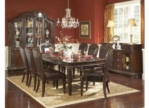 Palace Table w/ 2 Leave , 4 Side Chairs & 2 Arm Chairs