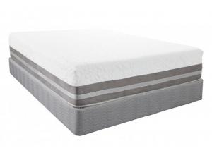 Rushmore Gel Foam Queen Mattress Set w/Power Base