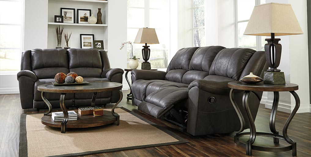 Niarobi Gray Reclining Sofa & Loveseat