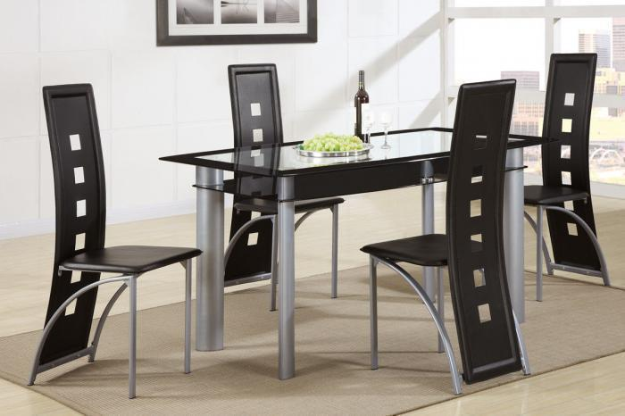 2212+1274 Glass Top Table + 4 Chairs,Quality Furniture In-Store