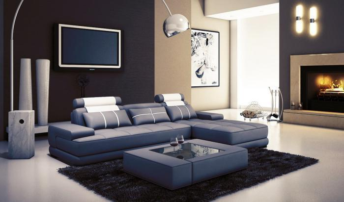 5005A Mini Modern Grey and White Leather 2 Pc. Sectional ,Quality Furniture In-Store