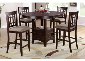 P-2345 Counter Height Table + 4 Chairs