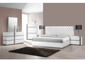 Seville Queen bed, dresser, mirror, night stand