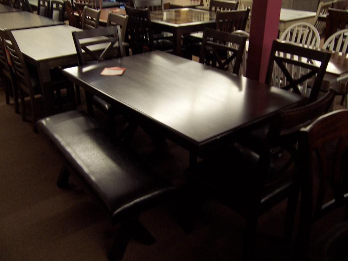 Table 4 chairs and bench. Was $ 999.00,Ahner New Furniture