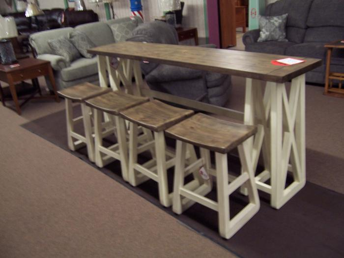 Sofa Bar w/ 4 stools Was $999.00,Ahner New Furniture